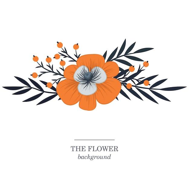 Flores, fundo, ilustração Vetor grátis