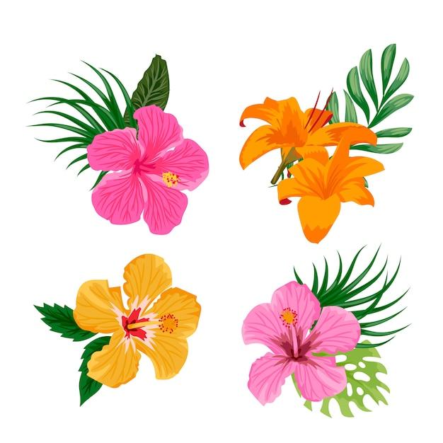 Flores tropicais Vetor grátis