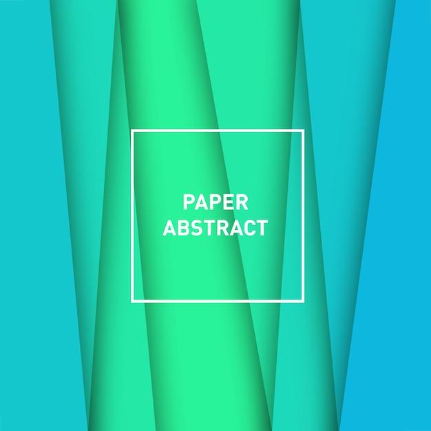 Floresta abstrata de papel Vetor grátis
