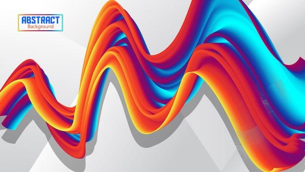 Fluxo abstrato ondulado fundo com gradação Vetor Premium