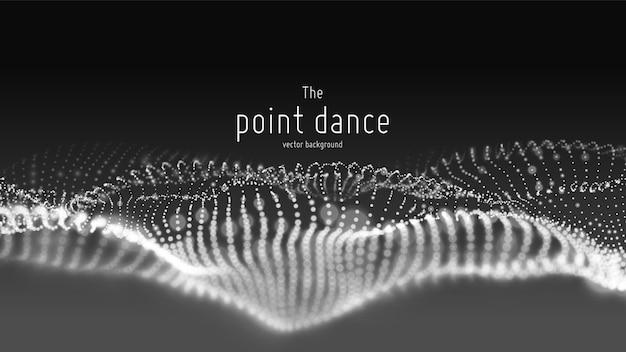 Fluxo de onda de partículas abstratas, fundo futurista e tecnologia Vetor grátis