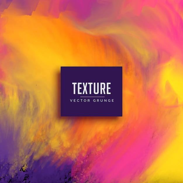 Fluxo de tinta da aguarela fundo grunge textura Vetor grátis