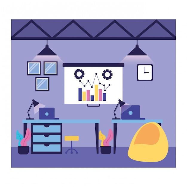 Fluxo de trabalho e infográfico Vetor grátis