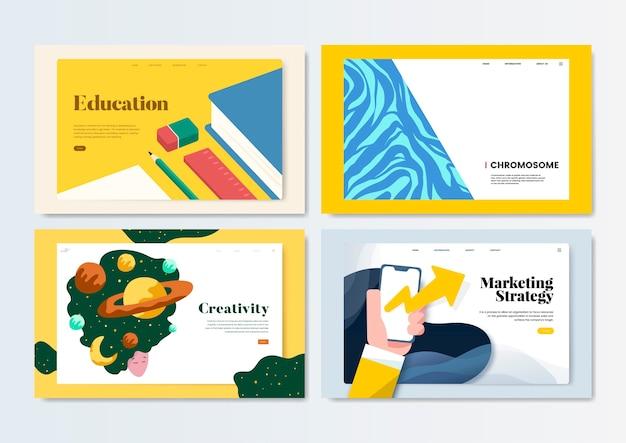 Flyer colorido modelo de design ilustração Vetor grátis