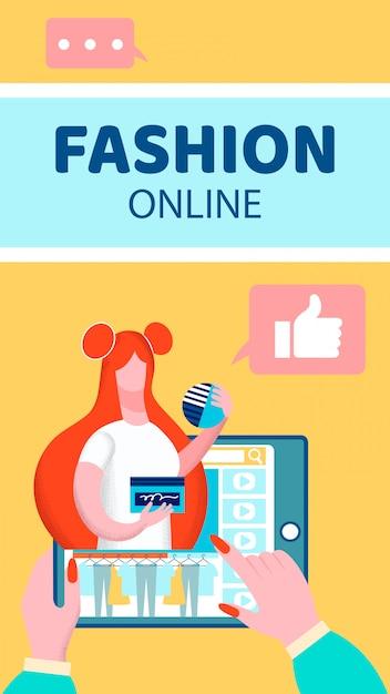 Flyer de blog de vídeo de moda Vetor Premium
