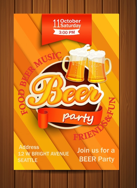 Well-known Flyer de festa de cerveja. | Baixar vetores Premium WR88