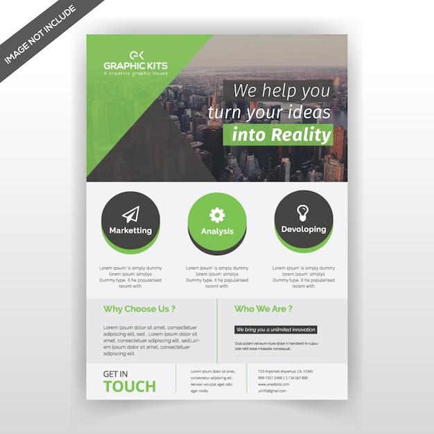 Flyer de negócios simples Vetor Premium