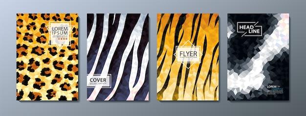 Flyer, modelo de capa de livro. Vetor Premium