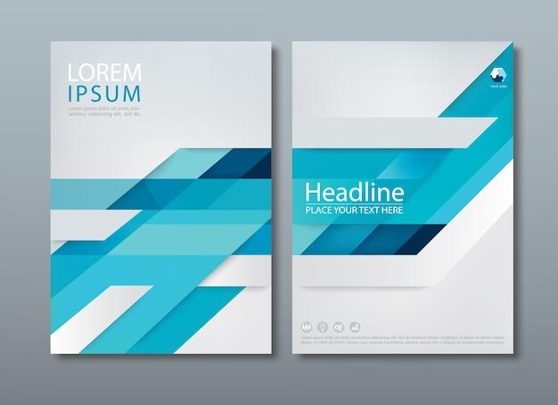 Flyer, modelos de capa, layout em tamanho a4. Vetor Premium