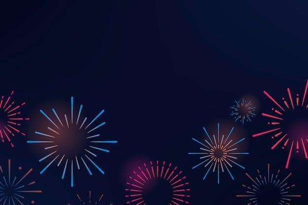 Fogo de artifício explosões fundo projeto vector Vetor grátis