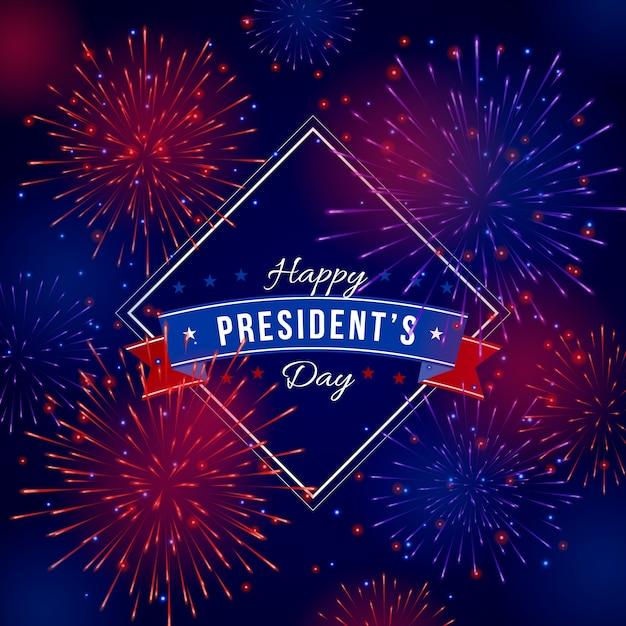 Fogos de artifício fundo dia do presidente Vetor grátis
