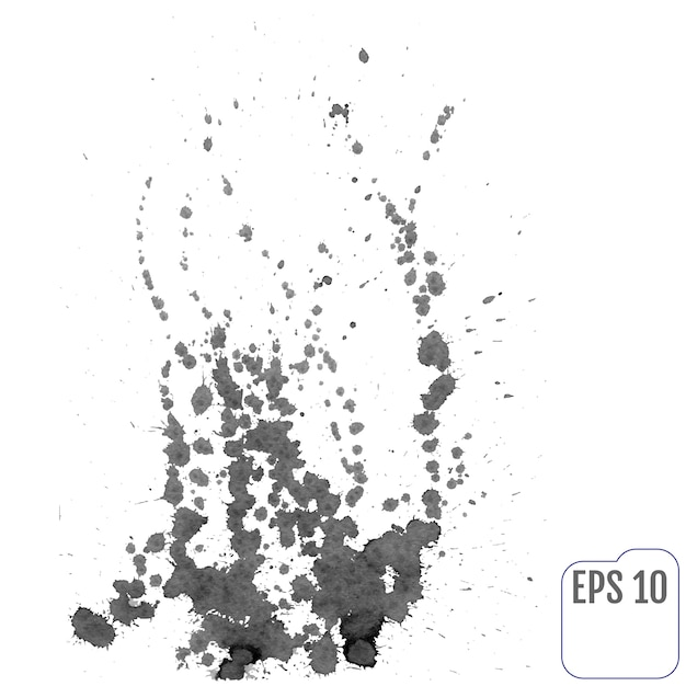 Fogueira de salpicos de tinta. ilustração vetorial Vetor Premium
