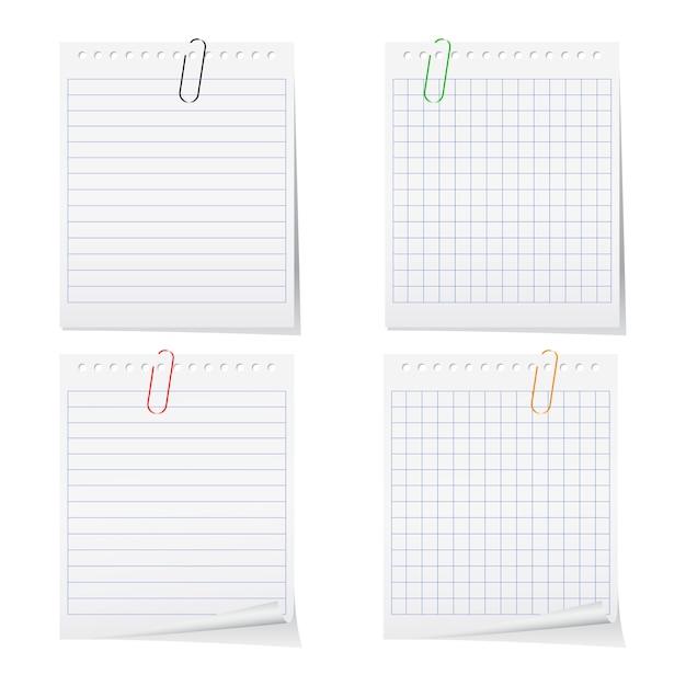 Folha de caderno Vetor Premium
