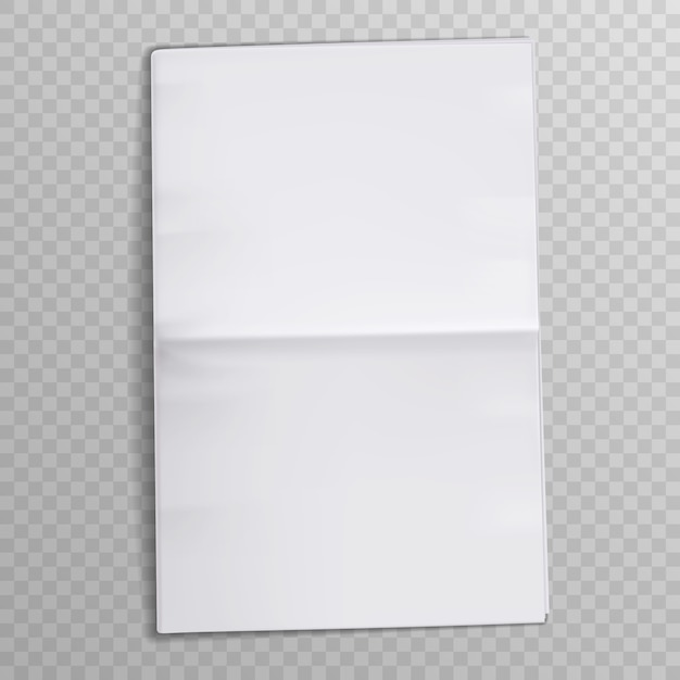Folha de papel em branco. revista tabloide. jornal de mídia abre páginas. Vetor Premium