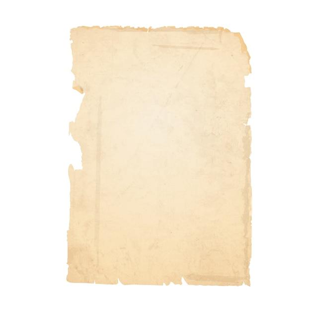 Folha rasgada de papel velho Vetor Premium