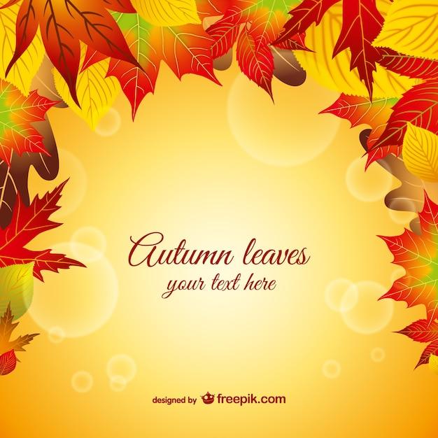Folhas de outono gráfico vetorial Vetor grátis