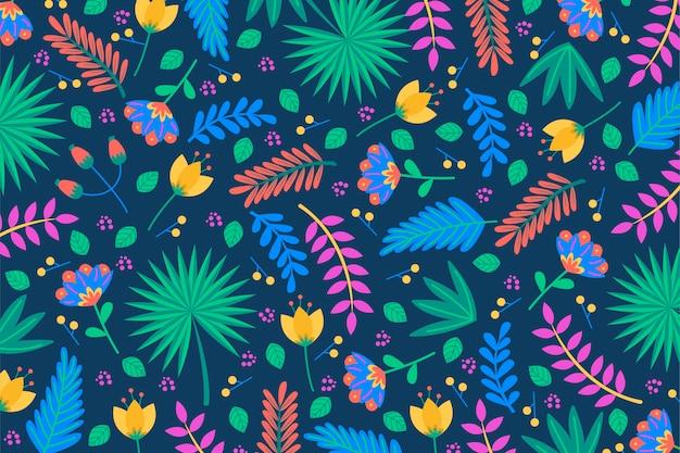 Folhas de palmeira e fundo de plantas tropicais Vetor grátis