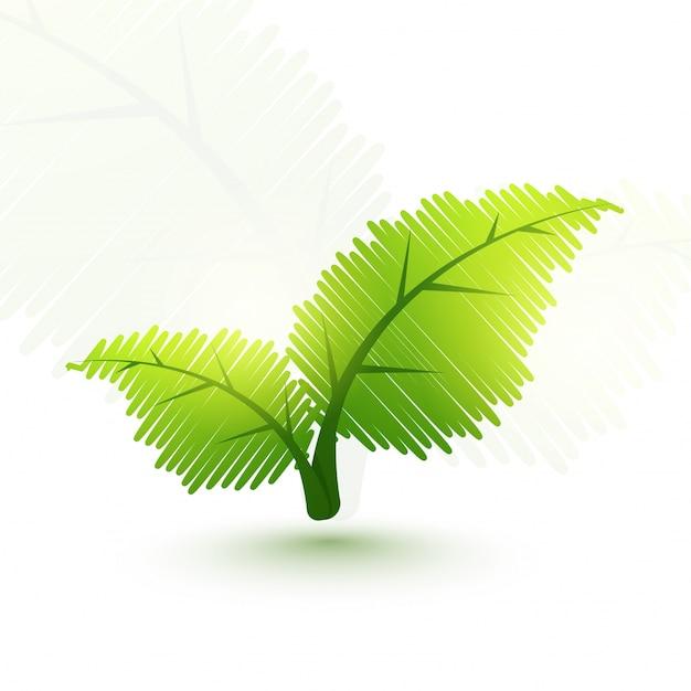 Folhas verdes criativas para o conceito de ecologia. Vetor grátis