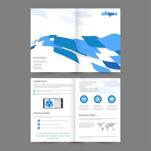 Folheto abstrato, design de capa de modelo corporativo para relatórios e apresentação de negócios. Vetor grátis
