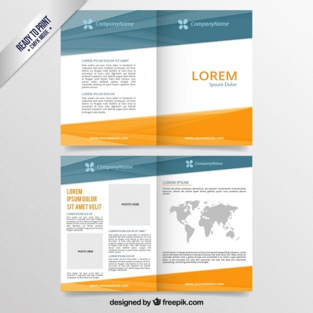 Folheto abstrato do negócio Vetor Premium