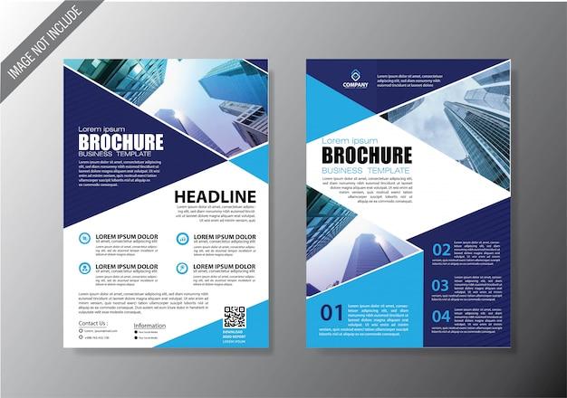 Folheto capa e brochura modelo de negócio para o relatório anual Vetor Premium
