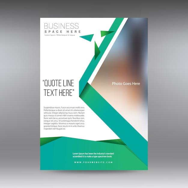 Folheto comercial branco e verde Vetor grátis