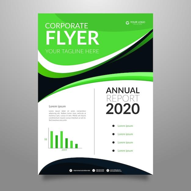 Folheto corporativo abstrato relatório anual Vetor grátis