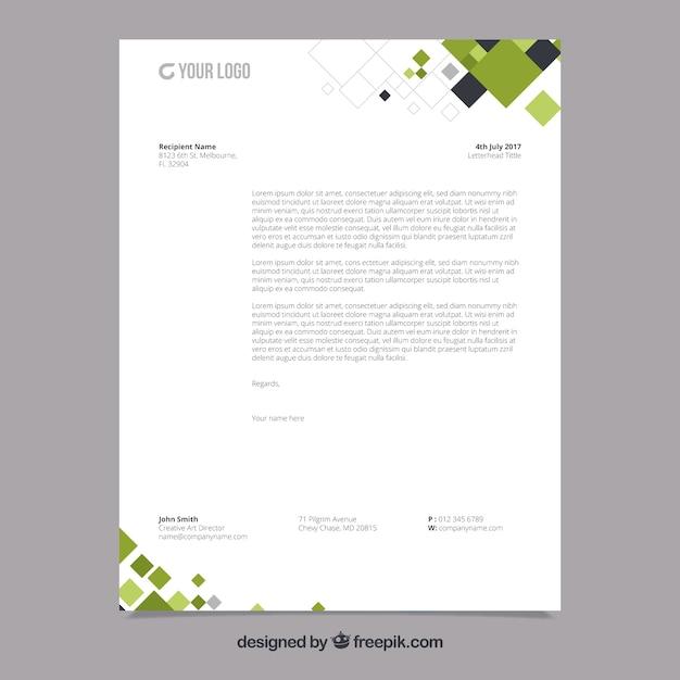 Folheto corporativo com formas geométricas pretas e verdes Vetor grátis