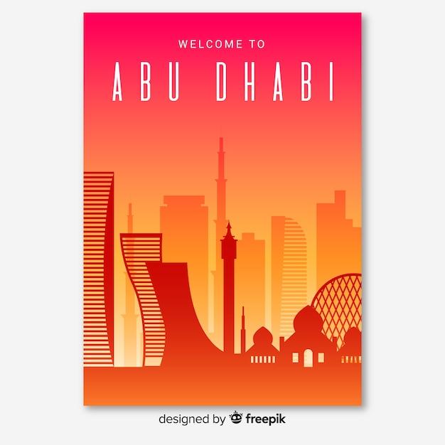 Folheto de abu dhabi Vetor grátis