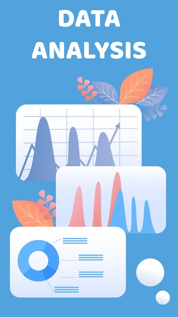 Folheto de análise de dados, modelo de vetor de brochura Vetor Premium