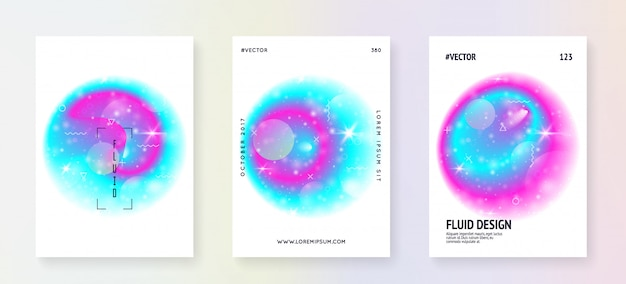 Folheto de astronomia com formas de galáxia e poeira estelar. Vetor Premium
