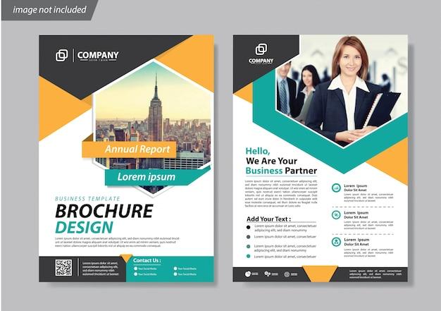 Folheto de brochura de capa ou relatório de fundo de livreto Vetor Premium