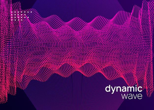 Folheto de dj de néon. electro dance music. evento de som eletrônico. clube Vetor Premium