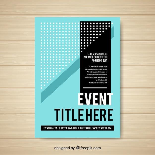 Folheto de eventos Vetor grátis
