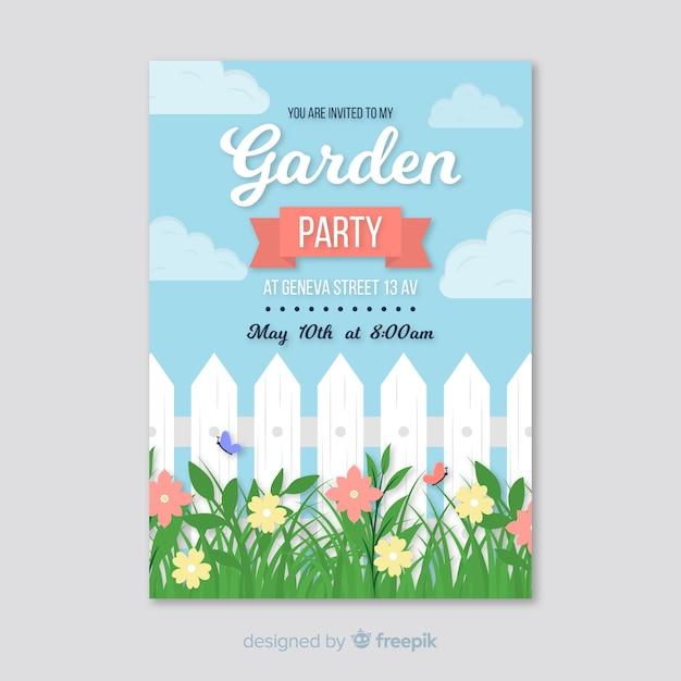 Folheto de festa de jardim Vetor grátis