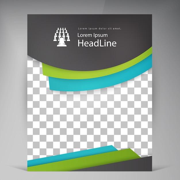 Folheto de folhetos modernos de vetores abstratos. Vetor grátis