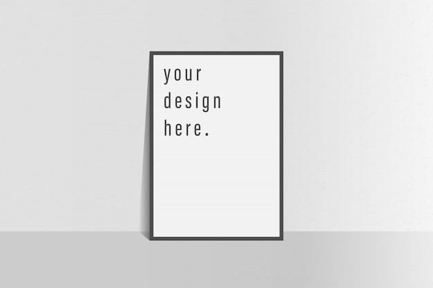 Folheto de modelo de folheto fundo de cor branco simples Vetor Premium