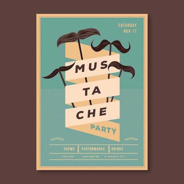 Folheto de movember / cartaz Vetor grátis