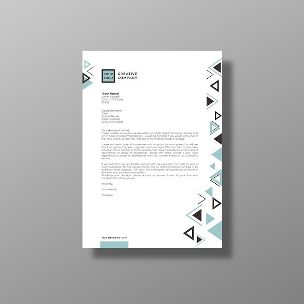 Folheto de negócios branco geométrico Vetor grátis
