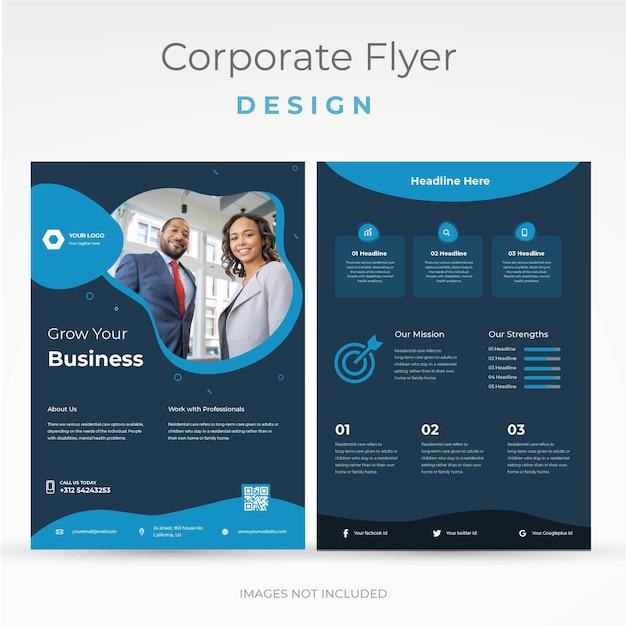 Folheto de negócios corporativos a4 moderno Vetor Premium