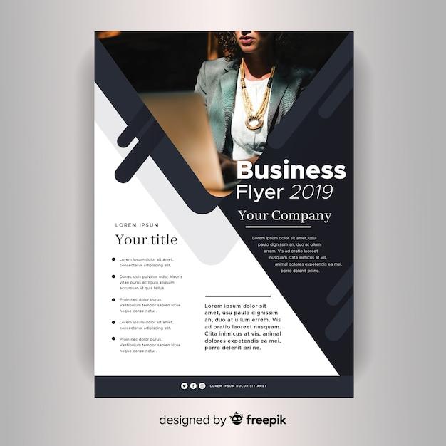 Folheto de negócios corporativos do modelo Vetor grátis