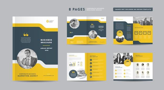 Folheto de negócios corporativos Vetor Premium