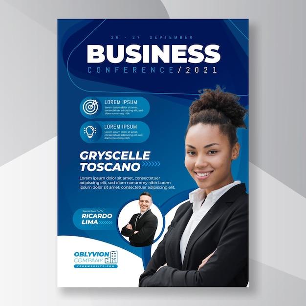 Folheto de negócios em geral Vetor Premium