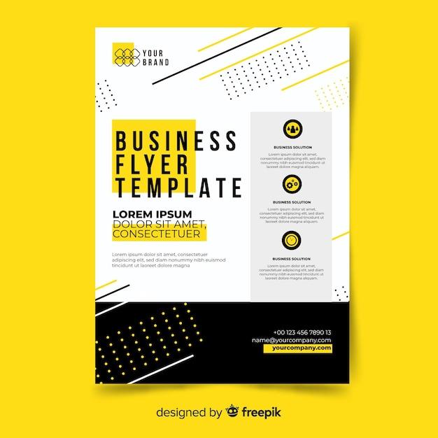 Folheto de negócios Vetor grátis
