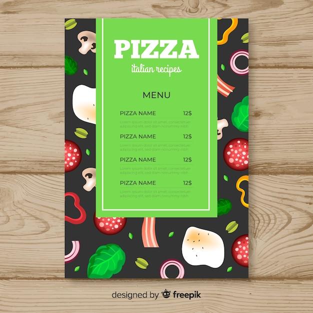 Folheto de pizza Vetor grátis