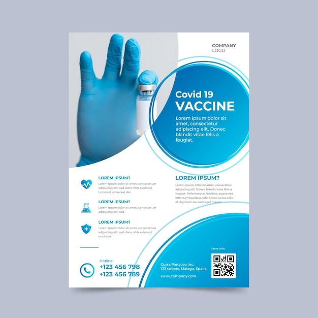 Folheto de produtos médicos do coronavírus com foto Vetor grátis