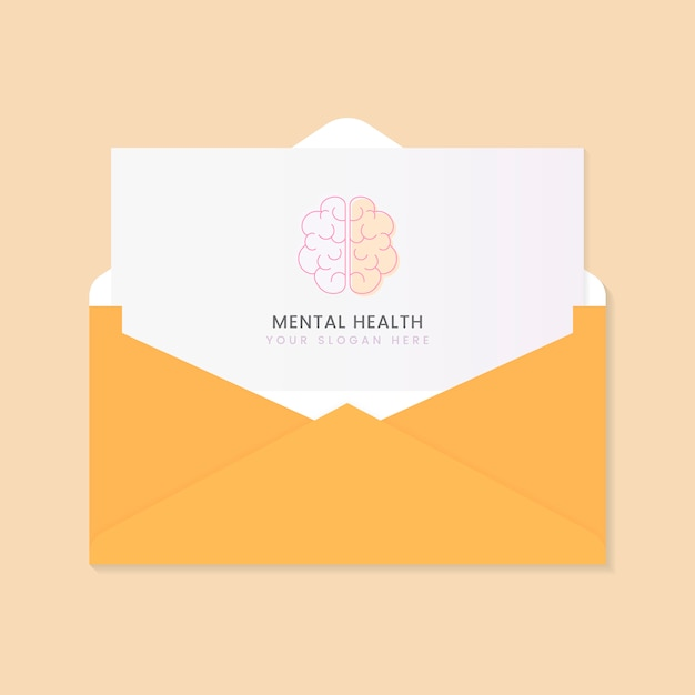 Folheto de propaganda sobre saúde mental Vetor grátis