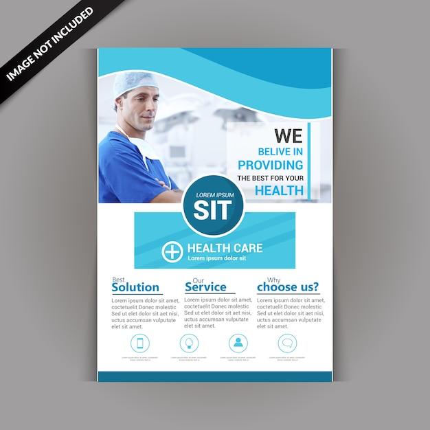 Folheto de saúde e médico Vetor Premium
