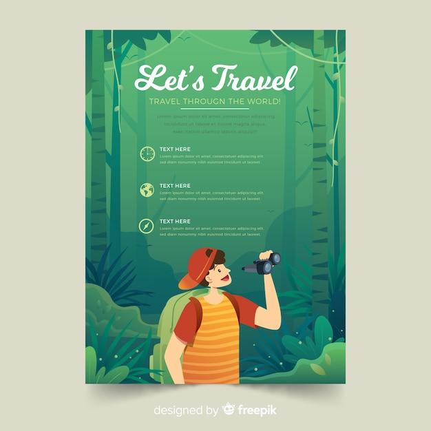 Folheto de viagem Vetor grátis