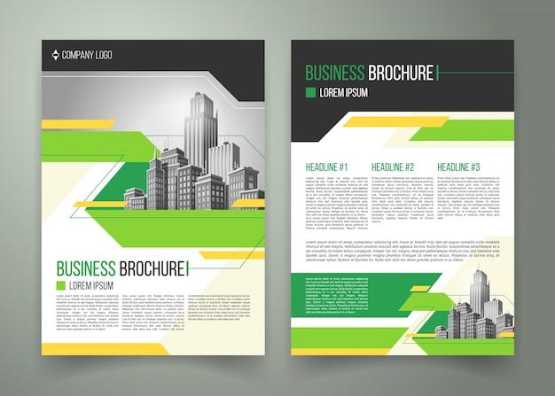 Folheto, design de capa, brochura comercial Vetor grátis